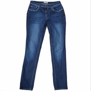 Earl Jeans Straight Leg Embellished Blue Jeans 6